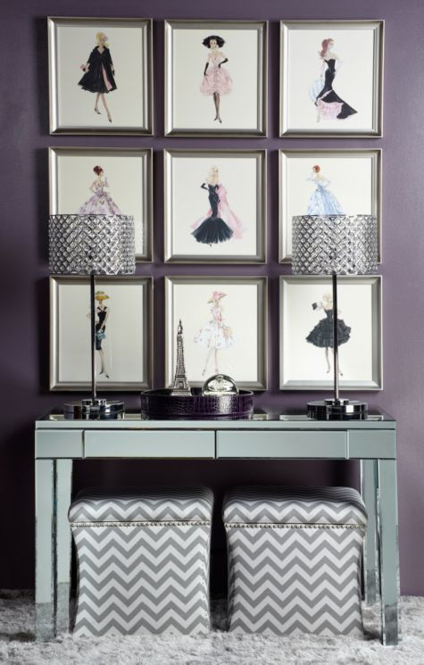 Barbie Capucine from Z Gallerie----A collection of all 9 looks fab and they are all on sale now!-Pinned by Concept Candie Interiors | girly