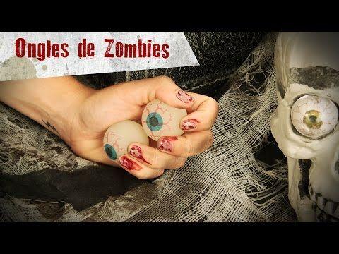 Tuto nail art ongles de zombie ensanglantées Halloween - Deguisetoi