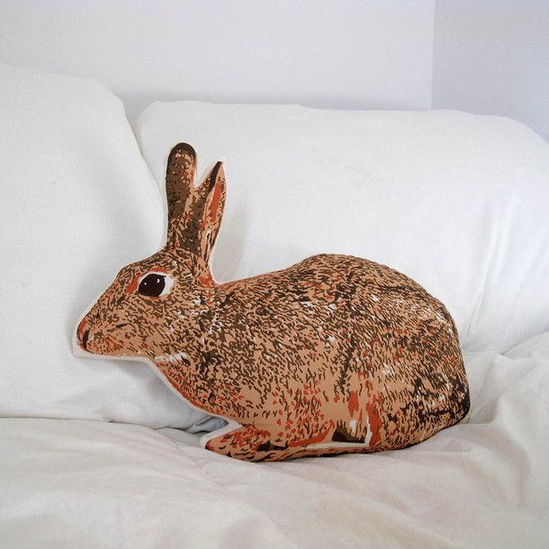 Bunny Pillow by Broderpress