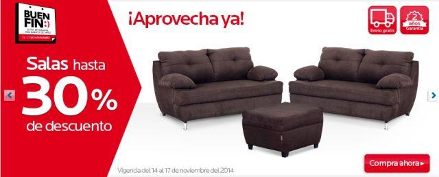 Ofertas Buen Fin: Salas hasta con 30% de descuento, en Coppel. Buen Fin, del 14 al 17 noviembre de 2014. #Promo #BuenFin