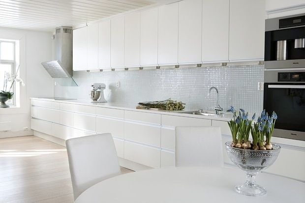 White kitchen in Oslo