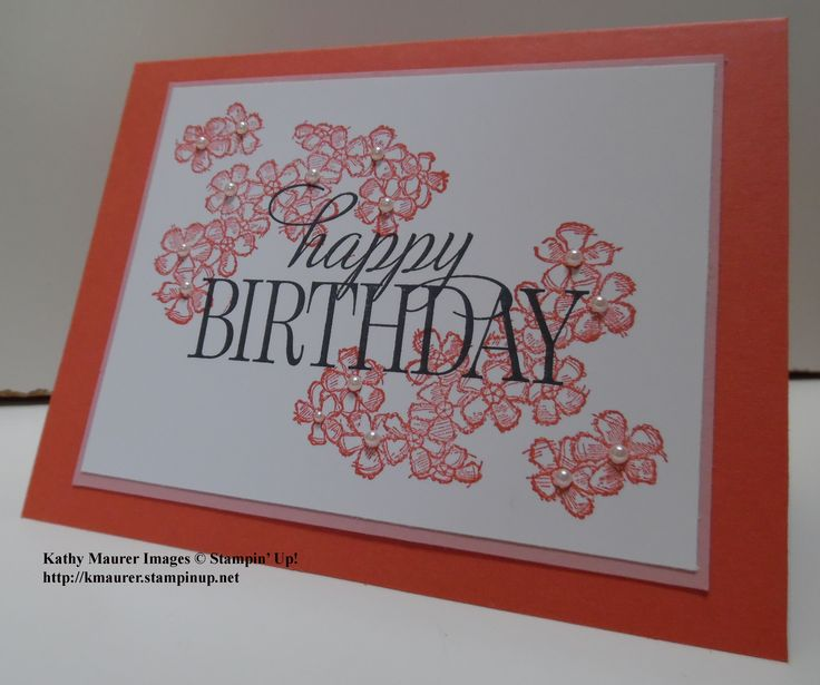 Birthday Card Made With Stampin' Up!'s Birthday Blossoms Stamp Set And Happy Birthday, Everyone