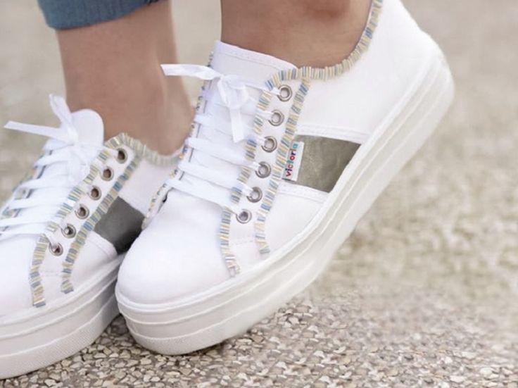 Tutorial fai da te: Come decorare le scarpe con le perline via DaWanda.com