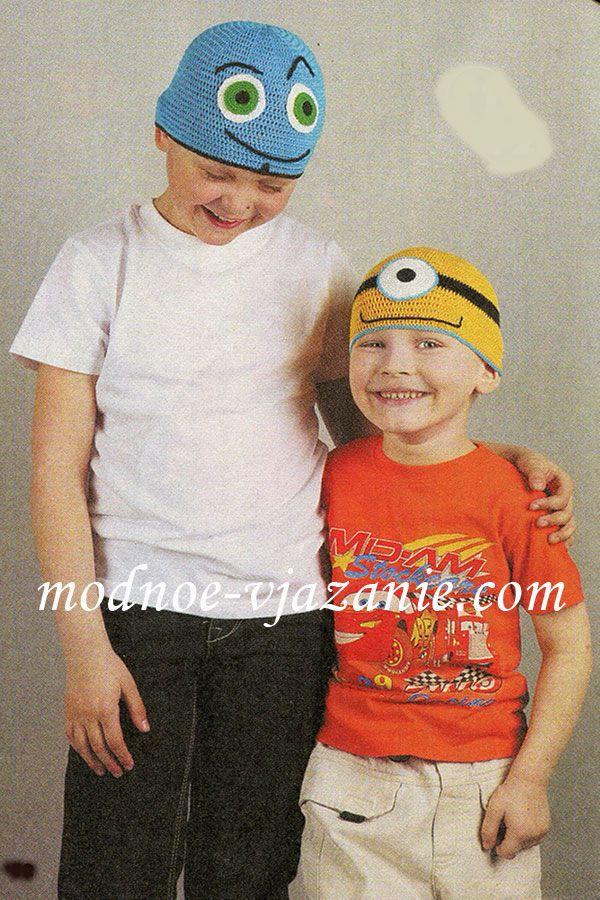 Вязаные шапочки для мальчиков
