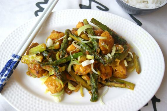 Vietnamesisk kylling med sitrongress/ Lemongrass chicken - myfoodpassion
