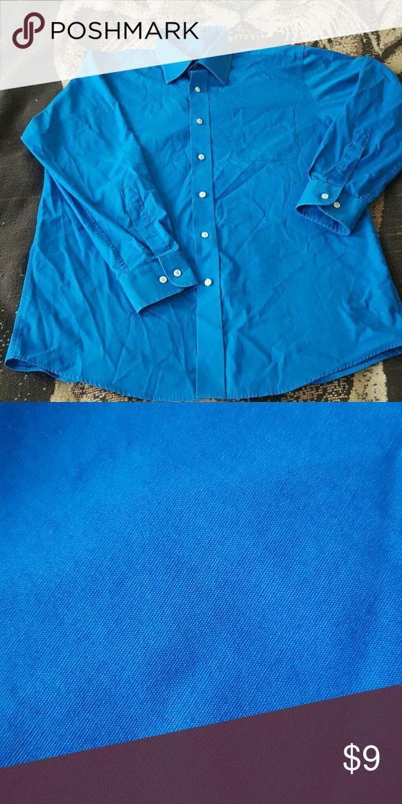 Men's Button Down shirt ROYAL Blue Button Down Dress Shirt Bill Robinson Shirts Dress Shirts