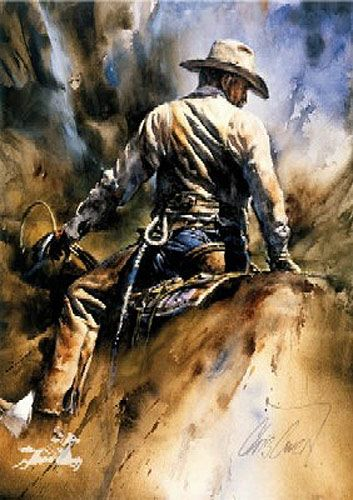 """Holding Things Together"" - Western artwork by Chris Owen"