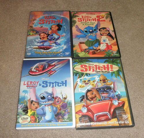 4 Lilo Stitch Disney DVD Kids Movies Lilo Stitch 2 Leroy Stitch The Movie | eBay