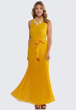 f21c49d2840 Petite Pleated Maxi Dress Junior Misses Cato Fashions