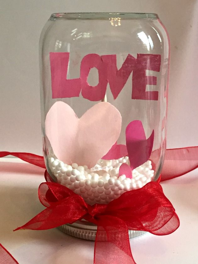 how to make a valentine snow globe craft project