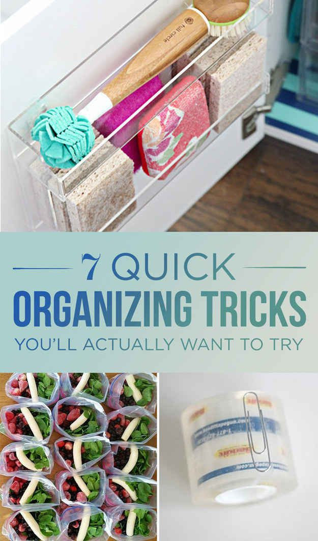 7 Quick Organizing Tricks You'll Actually Have Time For