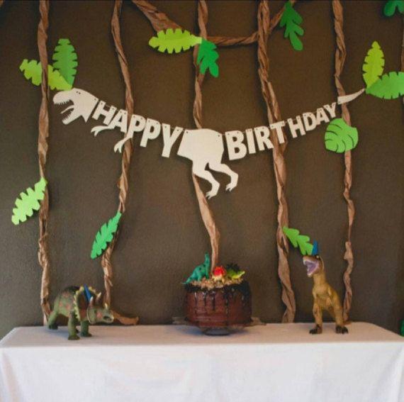 Dinosaur birthday banner Dinosaur banner by KpDigitalCreations
