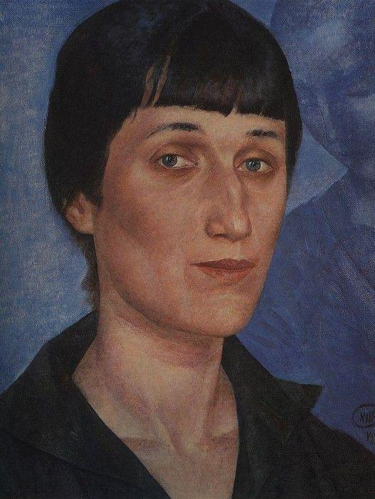 Портрет А. А. Ахматовой. 1922. Петров-Водкин Кузьма Сергеевич (1878-1939)