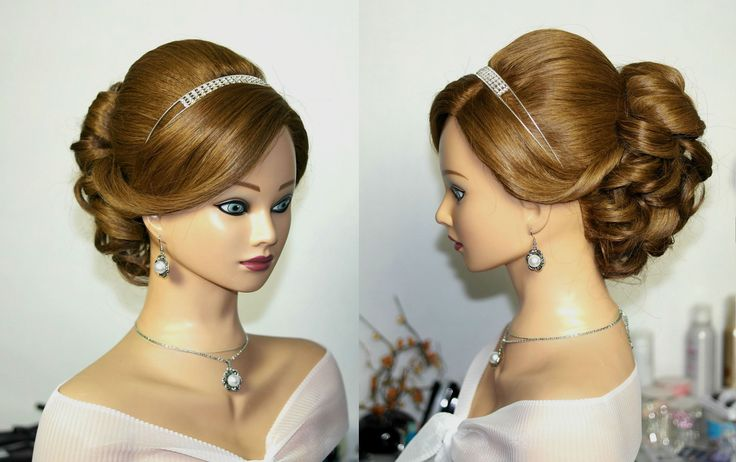 Wedding prom hairstyles for long hair. Свадебная прическа,  прическа на ...