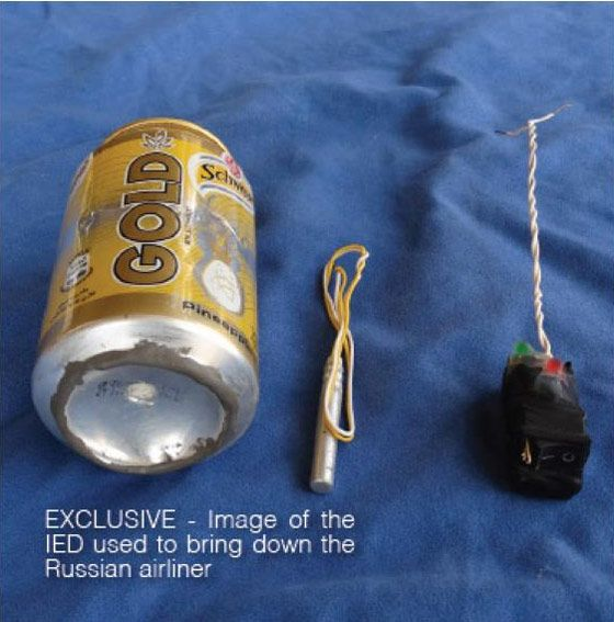 ISIS Posts Photo Of Bomb That Brought Down Russian Plane   The Daily Sheeple
