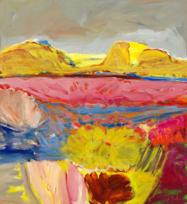 © Jo Bertini ~ Sandhill Series - Golden Gidgee & Sand Hibiscus ~ 2012 oil on canvas at Tim Olsen Gallery Sydney Australia