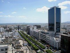 Tunis, Túnez, Cielo, Nubes, Rascacielos