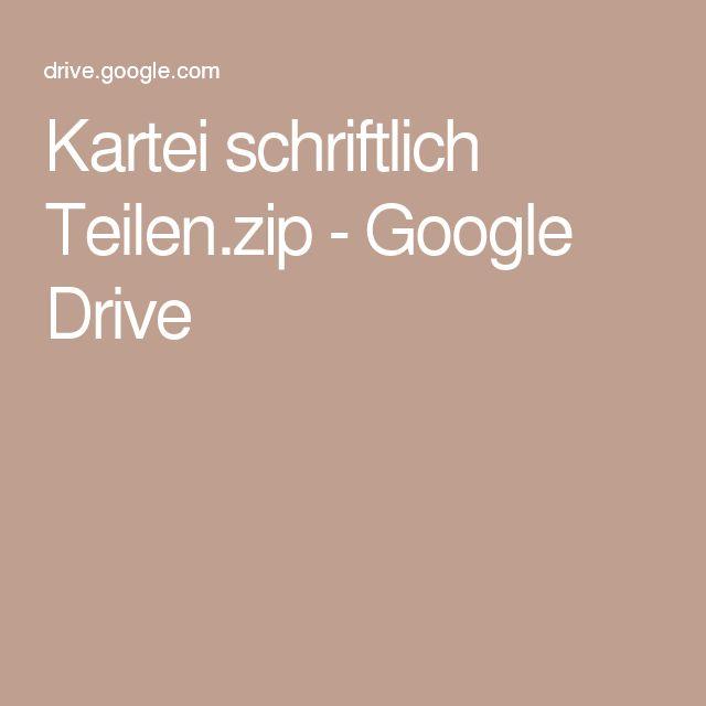 Kartei schriftlich Teilen.zip - Google Drive