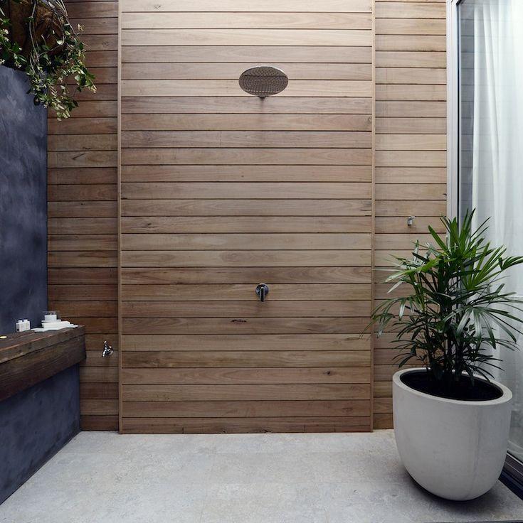 Outdoor shower: The Block