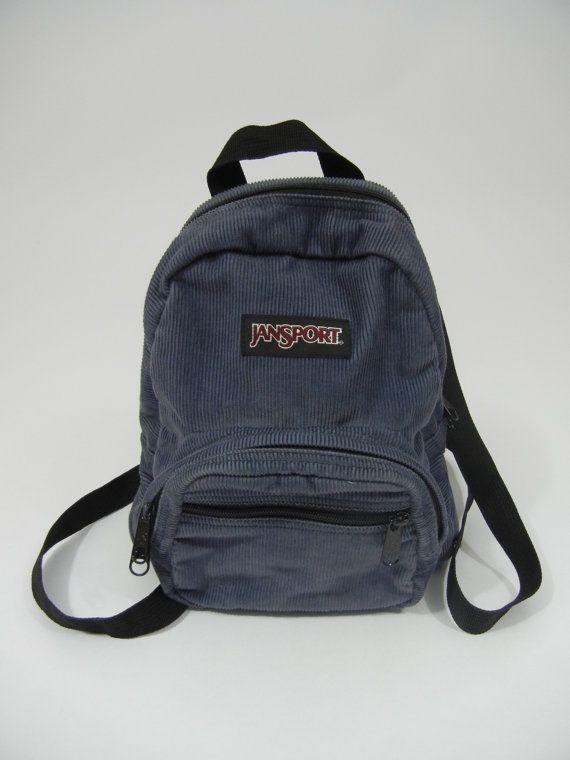 Vintage Mini Backpack Jansport Corduroy by littleraisinvintage, $15.00
