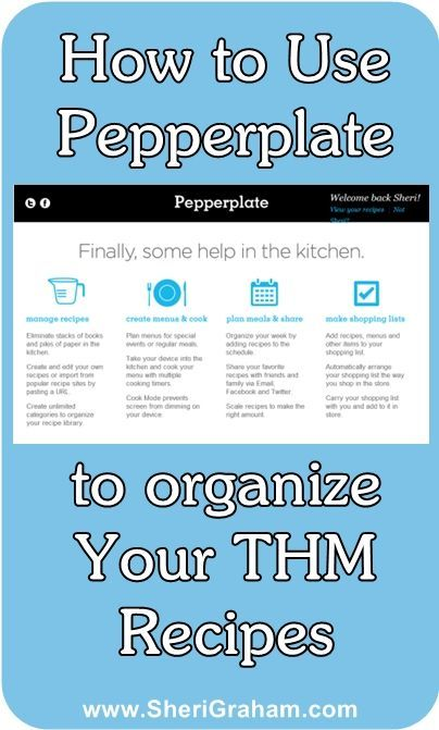 How to Use Pepperplate to Organize Your Trim Healthy Mama Recipes and Menus