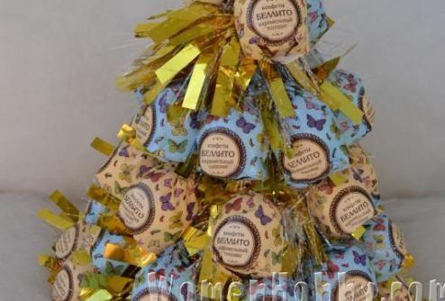 Christmas trees made of sweets DIY (Мастер-класс Сладкие елочки)