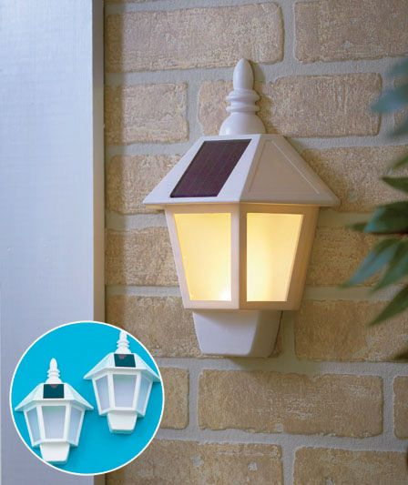 Brighten a garage front porch or gazebo with a set of 2 wall mounting solar lights flush mounted light does not require an electrical outlet or cord