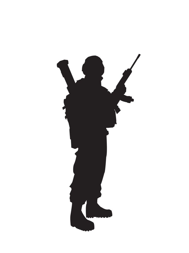 Soldier silhouette. | Army | Pinterest | Posts, Soldiers ...