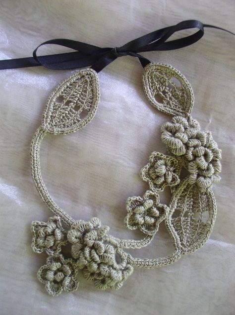Crochet Necklace Free Pattern A Blackberry Design Crochet Stuff