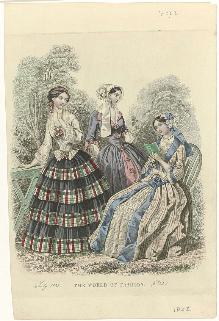 The World of Fashion, July 1852, Plate 2