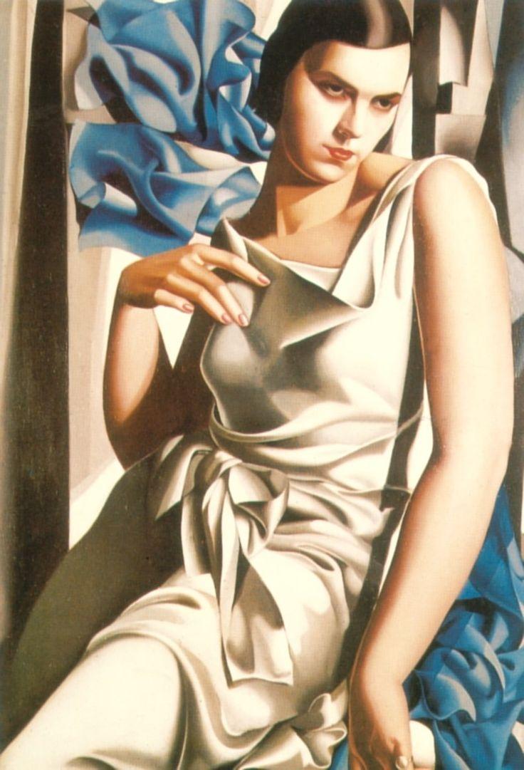met-art-tamara-d Tamara de Lempicka - Art Deco - Portrait of Mrs M (1932) art,