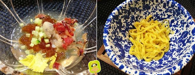 YUJI RAMEN - 5 course ramen tasting - gelatin ramen and oyster broth over noodles by www.chubbychinesegirleats.com, via Flickr