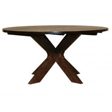 Lava matbord runt brunbetsad acacia - Bord   Ekeby Möbelaffär