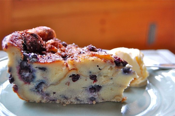 Blueberry Bread Pudding- had this at a fave restaraunt and had to make it. So simple and delicious- and a great way to use up those frozen berries from the summer!