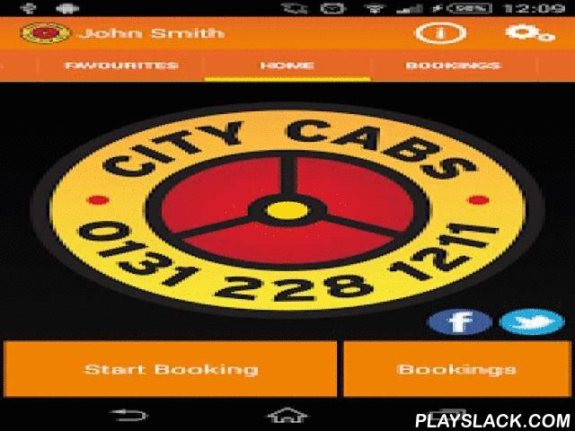 City Cabs Edinburgh  Android App - playslack.com ,  Thank you for your interest in the City Cabs Booking App.This App allows you to book a Licensed Taxi from City Cabs.You can:• Confirm, Cancel and Edit Bookings• Track your Cab using GPS• Save favourite addresses to allow quicker booking • Book jobs to and from Edinburgh AirportThe City Cabs App is intended for U.K use only, and therefore all addresses are restricted to within the U.K