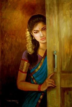 Beauty by Door | Vishalandra Daku | Indian Contemporary Art