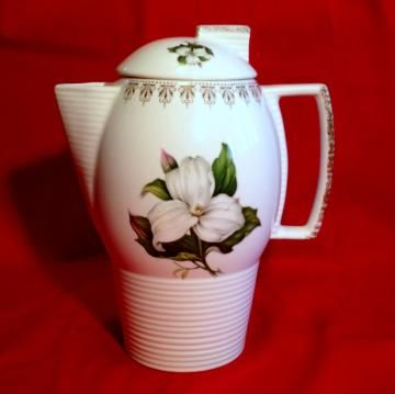 Dogwood with Gold #CoffeePot #Vintage by #Hoopties for $16.00
