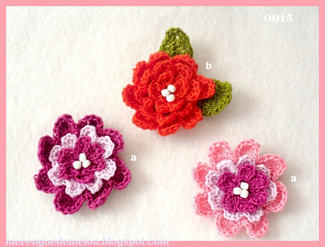 broches para ropa, en crochet: Coz I M, I M Crafty, En Crochet, For Clothes, Melon