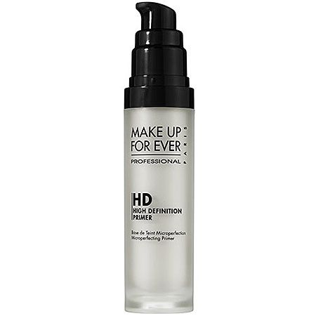 MAKE UP FOR EVER HD Microperfecting Primer: I LIVE for MUFE! This is hands down my fav primer!! On my 'I wanna be 'flawless' but don't feel like caking my face' day, a light layer of this and some lipgloss and mascara and I'm out the door!