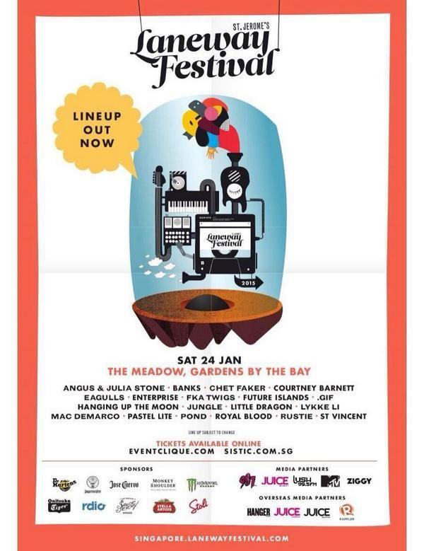 Laneway Festival Poster, January 24, 2015