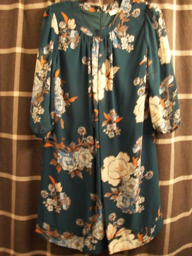 sz M eva mendes for new york & company green blue orange floral party dress  #evamendesfornewyorkcompany #PartyCocktail
