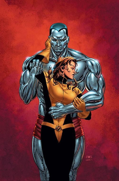 Shadowcat & Colossus... this is one of my fav. drawings of kitty pryde ever! i love it!