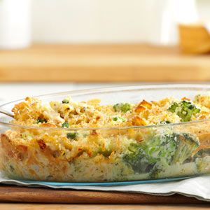 Broccoli Tuna Casserole from Taste of Home....may leave out the tuna and use as a side dish