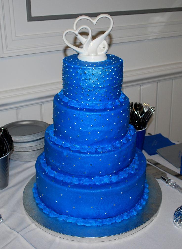 Blue Wedding Cake ~ NutMeg Confections