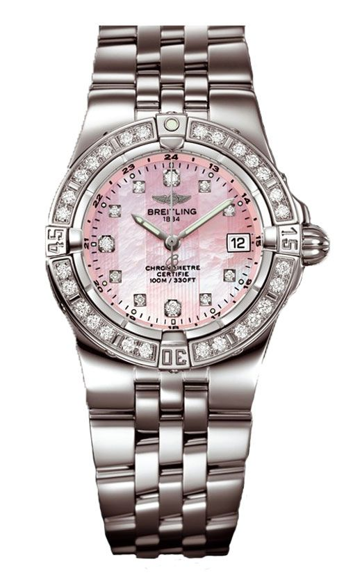 Pink breitling watch. yes, please.........this is so feminine.  i like this one for more formal occasions - of which there are ZERO in my life! :)