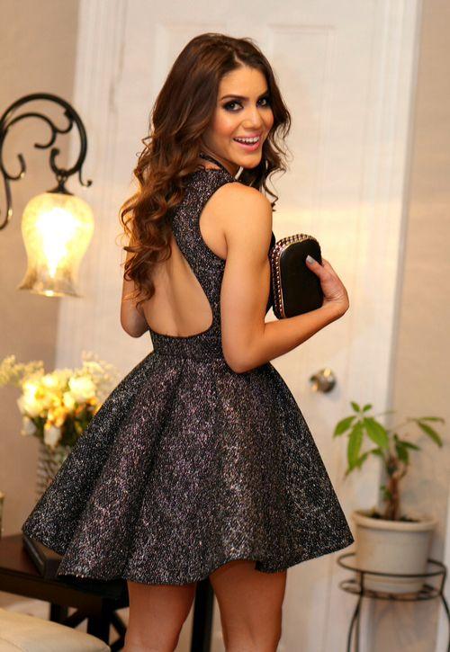 Kısa Elbise Modelleri › Bakımlı Kadın dress black mini