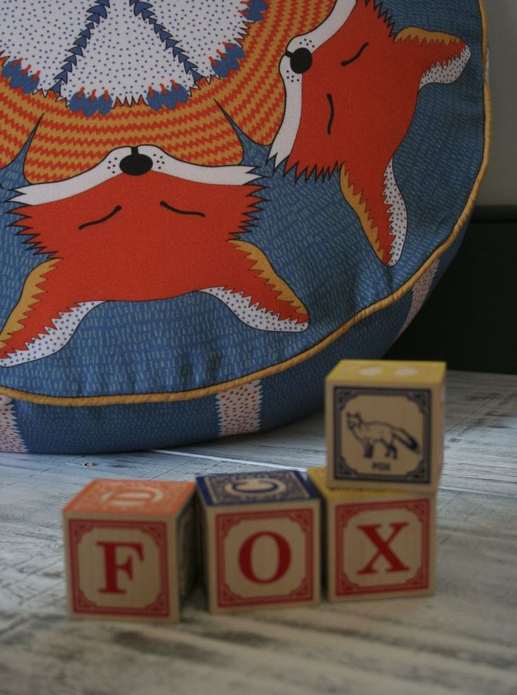 Kids will love this fox bean bag pouffe from Orwell and Goode