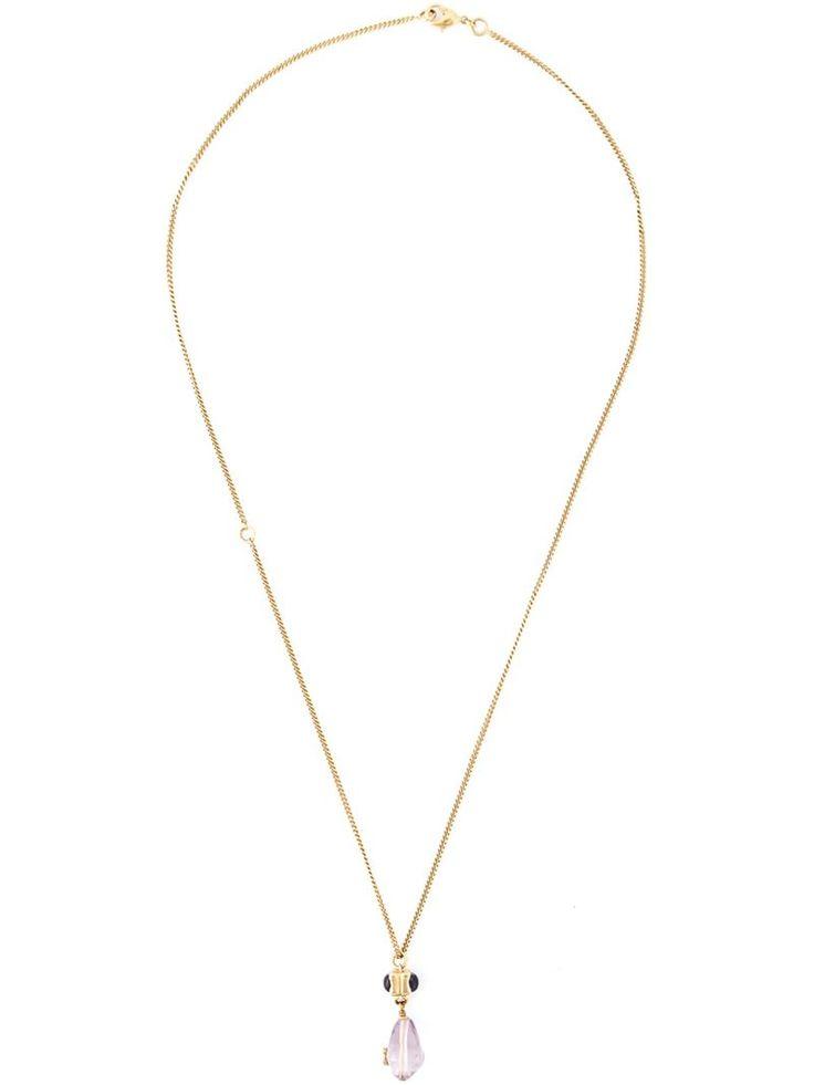 CHANEL VINTAGE lilac drop necklace