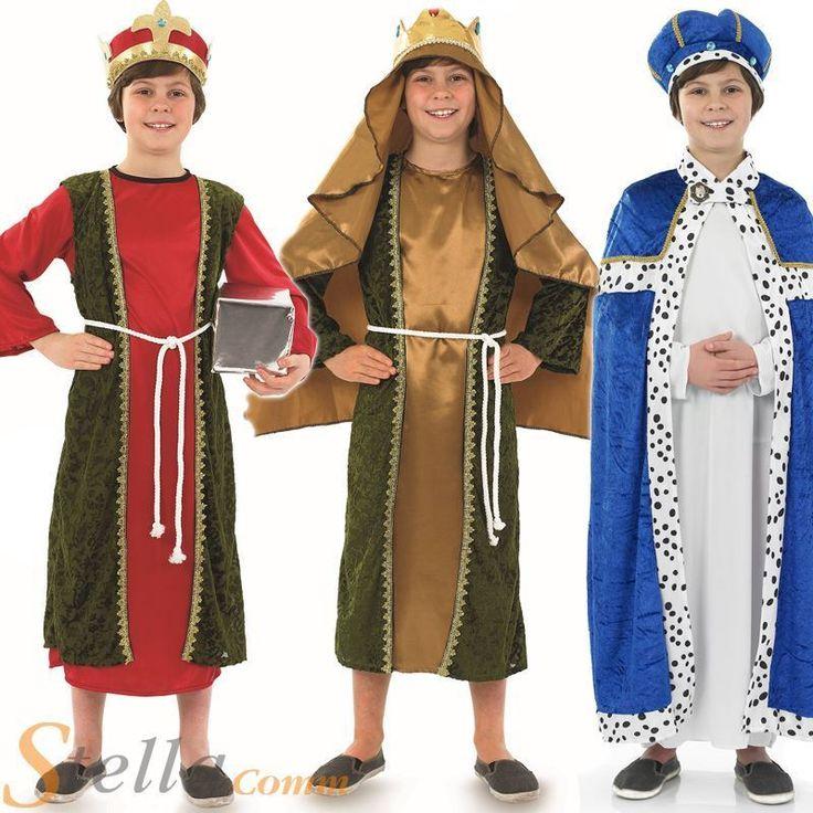 Boys Wise Men Christmas 3 Kings Nativity Play Kids Childrens Fancy Dress Costume                                                                                                                                                                                 More