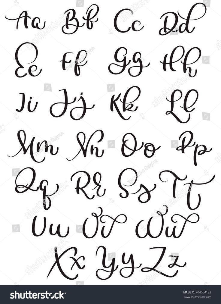 Weinlesealphabet auf weißem Hintergrund. Handgezeichnete Kalligraphie Schriftzug Vektor